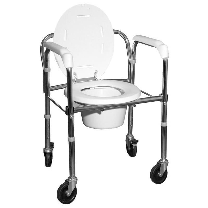 Κάθισμα τουαλέτα με ρόδες -Μπάνιου