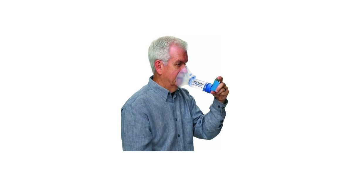 Αεροθάλαμος ενηλίκων με μάσκα Aerochamber Plus -Αεροθάλαμοι εισπνοών Aerochamber