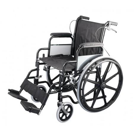 Οικονομικό αναπηρικό αμαξίδιο με μεγάλους συμπαγείς τροχούς