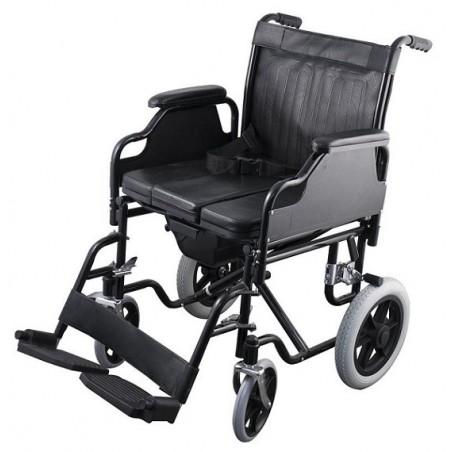 Αναπηρικό αμαξίδιο με φαρδύ κάθισμα και δοχείο