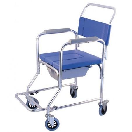 Αναπηρικό αμαξίδιο μπάνιου με δοχείο.