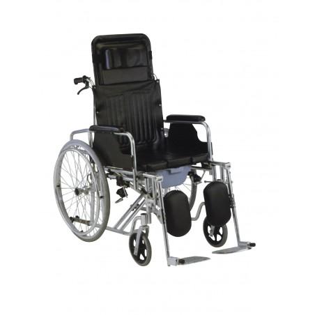 Αναπηρικό αμαξίδιο αλουμινίου με ανακλινόμενη πλάτη ol 59