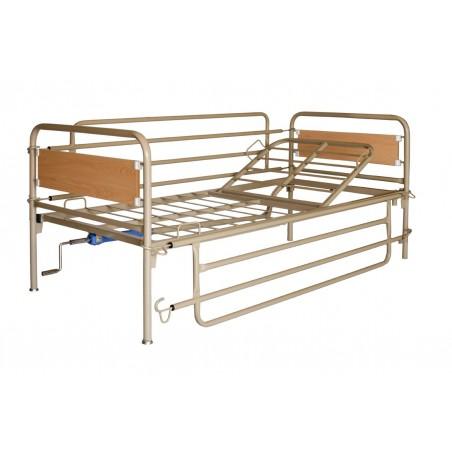 Κρεβάτι νοσοκομειακό μονόσπαστο μεταλλικό -Χειροκίνητα κρεβάτια
