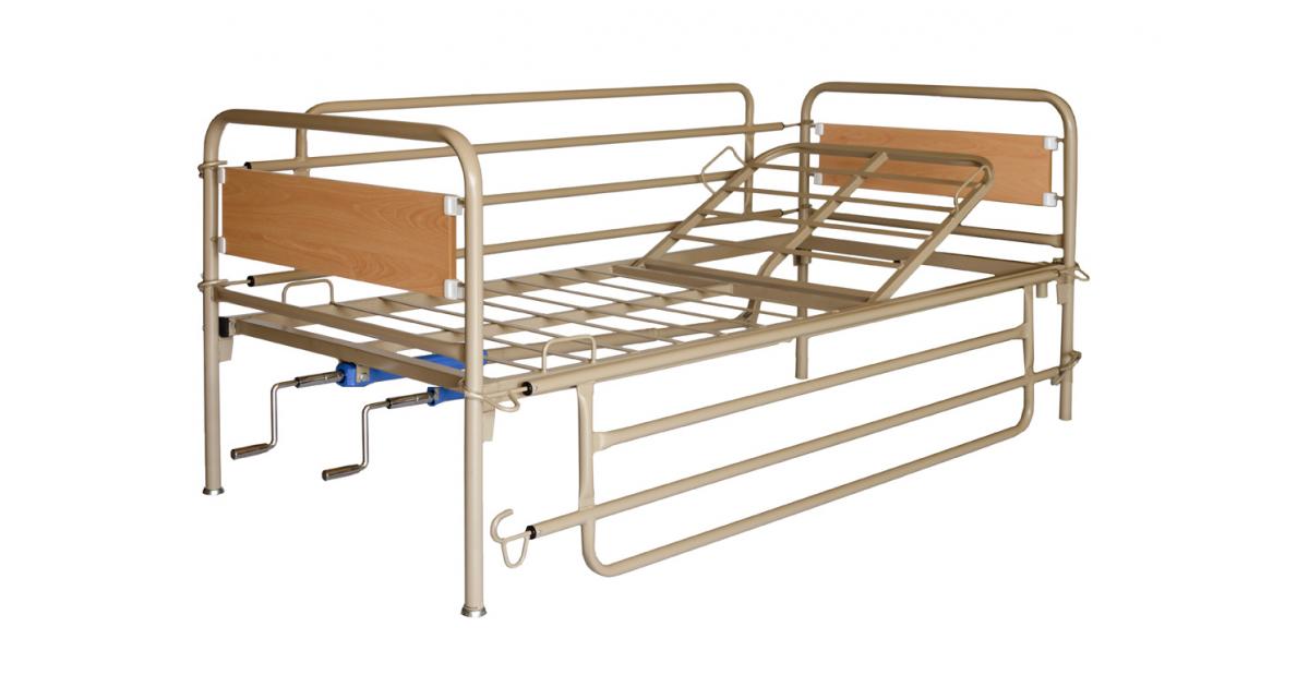 Κρεβάτι νοσοκομειακό πολύσπαστο μεταλλικό -Χειροκίνητα κρεβάτια