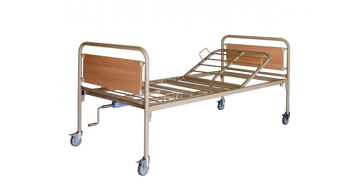 Κρεβάτι νοσοκομειακό μονόσπαστο με ρόδες -Χειροκίνητα κρεβάτια