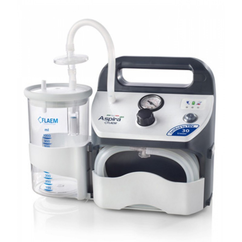 Συσκευή αναρρόφησης aspira go 30lt και με μπαταρία -Cpap - Bpap - Συσκευές αναρρόφησης