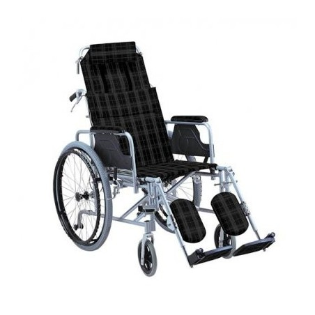 Aναπηρικό αμαξίδιο αλουμινίου με ανακλινόμενη πλάτη